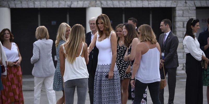 Photo of Melania Trump G7 Zirvesine Damga Vurdu