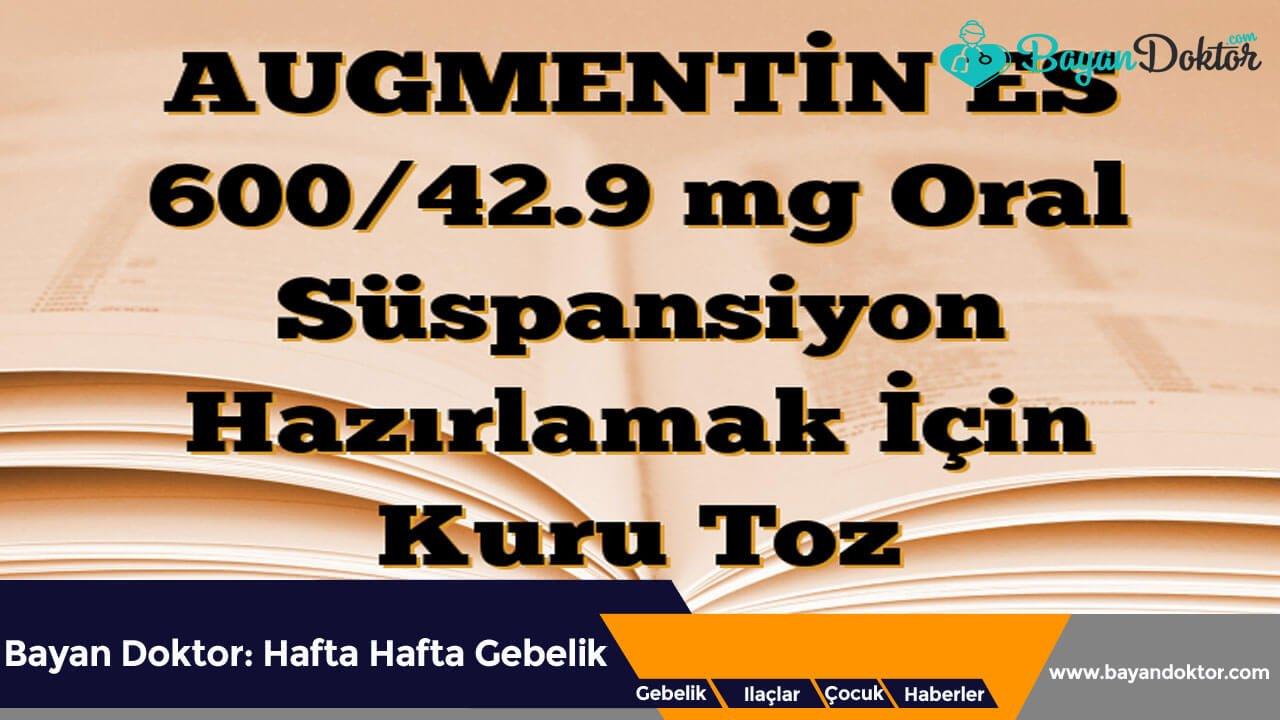 Augmentin Es 600/42,9 mg 100 ml Süspansiyon Nedir? Ne İşe Yarar?